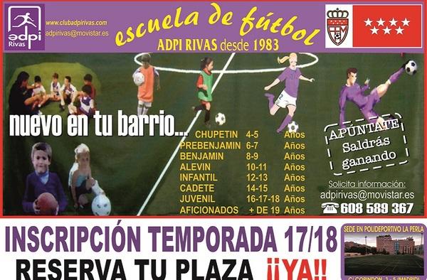 Los equipos Aficionados del ADPI Rivas se presentan el 16 de agosto de 2017 en el Polideportivo La Perla en el distrito madrileño de Villaverde