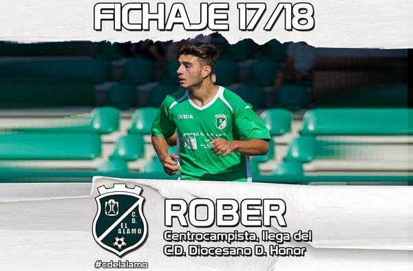 """Roberto Nuevo """"Rober"""", incorporado a la plantilla del C.D. El Álamo para la temporada 2017/18"""