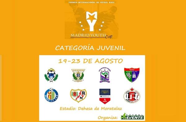 Horarios de la Madrid Youth Cup Juvenil - Del 19 al 23 de Agosto de 2017