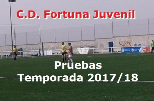 El C.D. Fortuna realiza pruebas para el Juvenil Preferente del club - Temporada 2017/18
