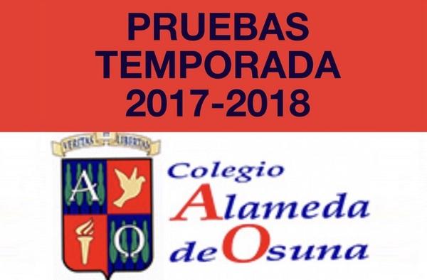 Últimas pruebas para pertenecer al Colegio Alameda de Osuna en la temporada 2017/18 (Desde Alevín hasta Juvenil)