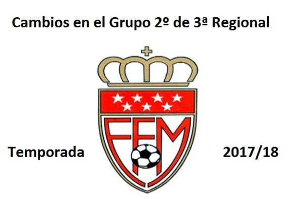 El grupo 2º de Tercera Aficionados arranca la temporada  con muchos cambios respecto a la propuesta inicial en la temporada 2017/18