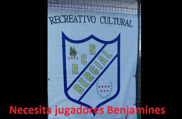 El RC Nuevo Bercial de Getafe necesita Benjamines de primer año para completar equipo
