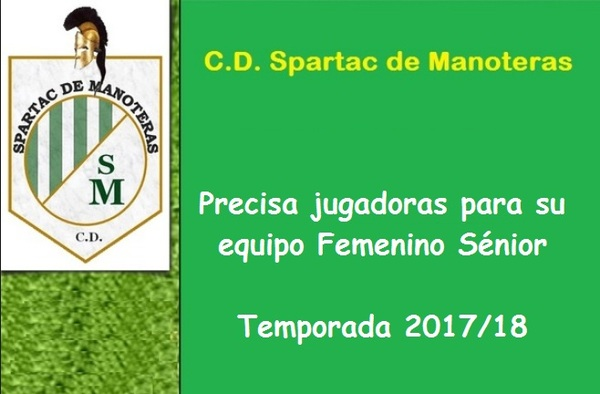 El equipo femenino Sénior del Spartac de Manoteras busca jugadoras para completar plantilla - Temporada 2017/18