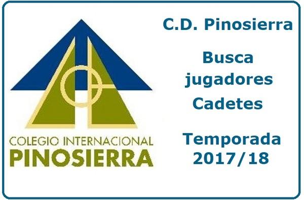 El C.D. Pinosierra precisa jugadores Cadetes para completar la plantilla - Temporada 2017/18