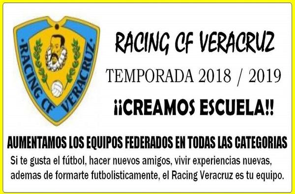 El Racing CF Veracruz contará con todas las categorías para la temporada 2018/19