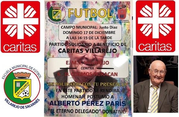 Partidos solidario a beneficio de Cáritas en Villarejo de Salvanés - Domingo 17 de diciembre de 2017