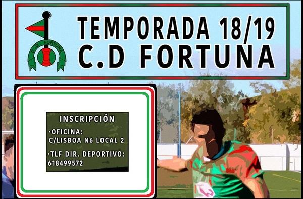 Abierto el periodo de inscripción para pertenecer a la Escuela del C.D. Fortuna en la temporada 2018/19