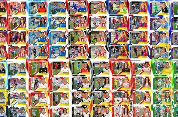 ¡¡ Tengo más de 250 cromos (Liga Iberdrola -Fútbol Femenino-) hechos con mucha ayuda de fotógrafos y clubes… !!