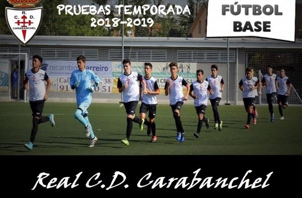 Abierto el periodo de pruebas para la temporada 2018/19 en el Real CD Carabanchel