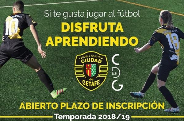 La Escuela de Futbol Ciudad de Getafe abre el plazo de inscripción para la temporada 2018/19