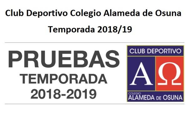 El Club Colegio Alameda de Osuna realizará pruebas de acceso para la temporada 2018/19