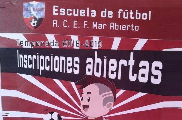 La Escuela de Fútbol Mar Abierto abre las inscripciones para la temporada 2018/19