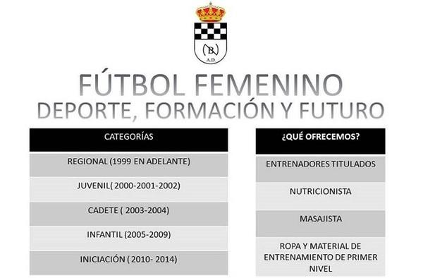 Abierto el plazo de inscripción de fútbol Femenino en la A.D. Nuevo Baztán - Temporada 2018/19