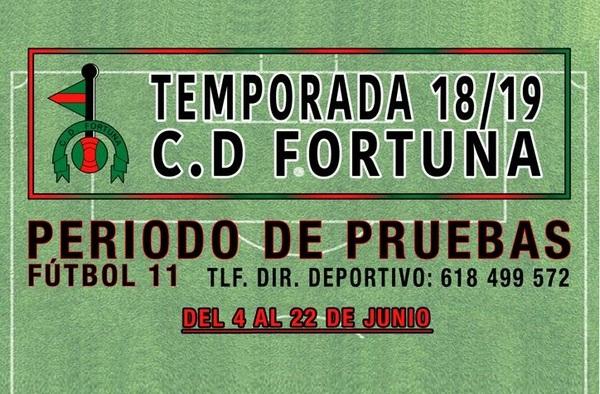 El C.D. Fortuna abre el periodo de pruebas para la temporada 2018/19