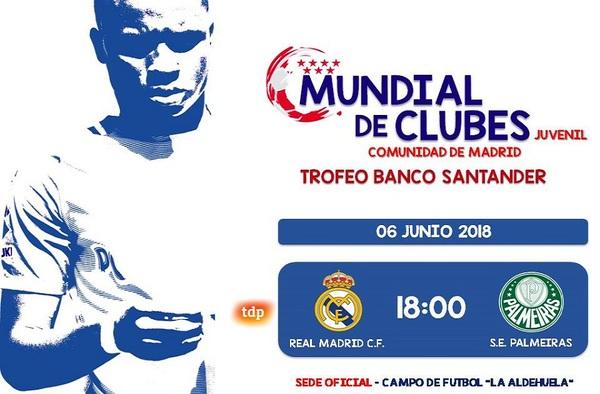 El Real Madrid  y el Palmeiras juegan mañana miércoles la final del Mundial de Clubes Juvenil en Fuenlabrada