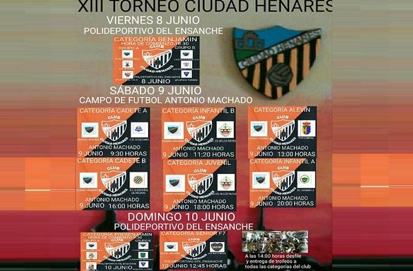 XIII Torneo Ciudad Henares - Del viernes 8 de junio al domingo 10 de junio de 2018