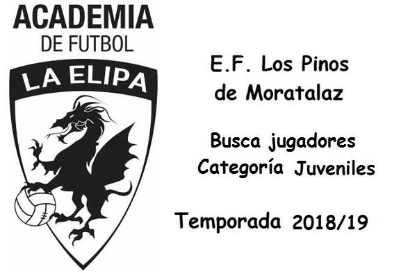 E.F. Los Pinos de Moratalaz buscan jugadores juveniles para la temporada 2018/19