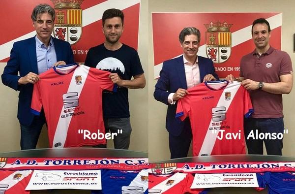 Rober Izquierdo y Javi Alonso, primeros fichajes del A.D. Torrejón C.F. para la temporada 2018/19