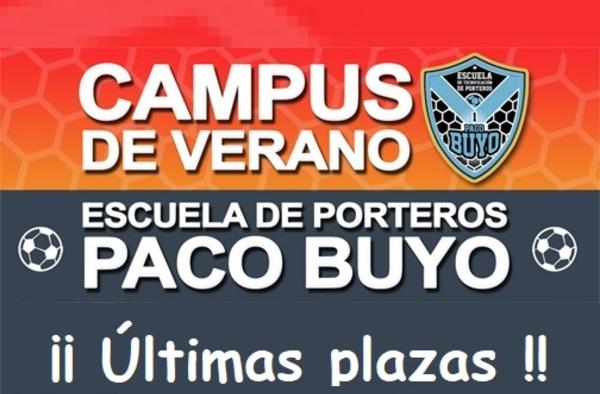 Últimas plazas en el Campus de Verano de la Escuela de Porteros Paco Buyo en Alcobendas