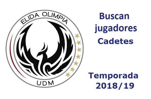 La UDM Élida Olimpia busca jugadores Cadetes para la temporada 2018/19