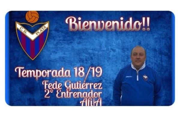 Fede Gutiérrez regresa al C.D. Plata, tras haber estado vinculado al cuerpo técnico de la E.F. Usera - Temporada 2018/19