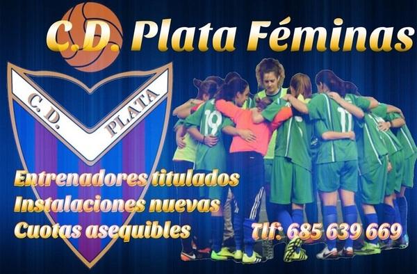 El C.D. Plata tiene plazas para jugar en su equipo sénior Femenino - Temporada 2018/19