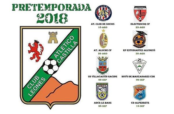 Planificada la pretemporada 2018/19 del Atlético Leones de Castilla
