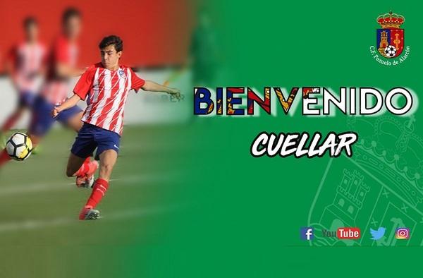 El delantero Alberto Cuéllar llega cedido al C.F. Pozuelo desde el Atlético de Madrid