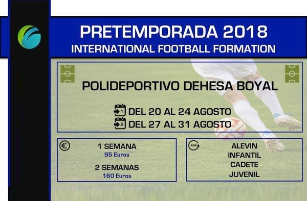 La Academia International Football Formation presenta su programa: Pretemporada 2018