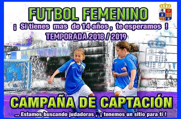 El Camarma C.F. apuesta por el fútbol Femenino, ¡ apúntate para la temporada 2018/19 !