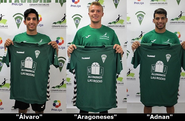 Alberto Aragoneses, Adnan Arkine y Álvaro García-Consuegra, ya forman parte del Villaverde San Andrés