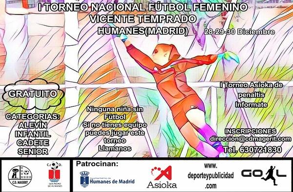 I Torneo Nacional de Fútbol Femenino Vicente Temprado - 28, 29 y 30 de diciembre de 2018