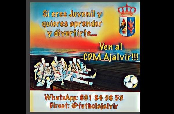 El CDM Ajalvir busca jugadores Juveniles para la temporada 2018/19