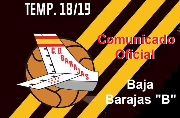 """El C.D. Barajas """"B"""" no competirá en la temporada 2018/19"""