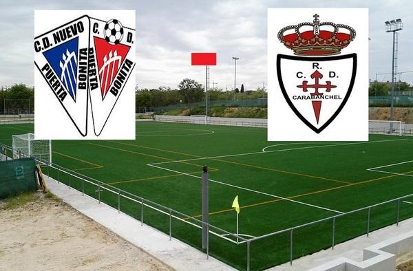 """Derbi en Carabanchel entre el Nuevo Puerta Bonita y Real Carabanchel """"B"""" en el primer partido de liga – Temporada 2018/19"""