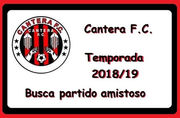 El Cantera FC Femenino busca partido amistoso para el 23 de septiembre de 2018