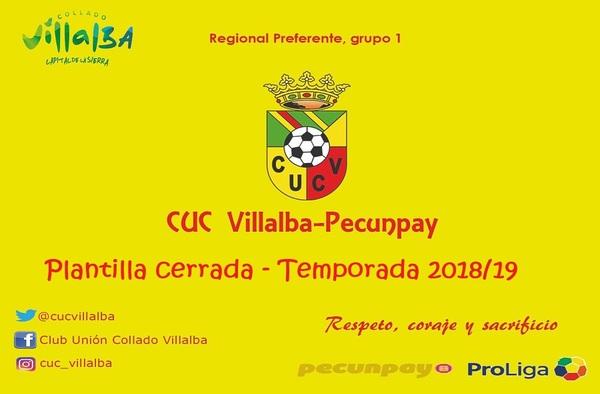 El C.U.C. Villalba Pecunpay da por cerrada la plantilla del Senior A para la temporada 2018/19