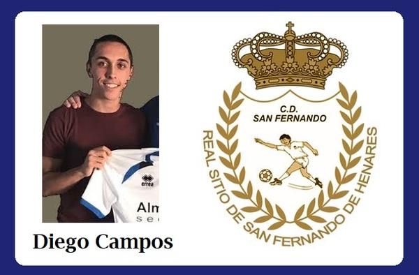 Diego Campos, una vez recuperado de su lesión, ya trabaja en la nueva etapa del C.D. San Fernando