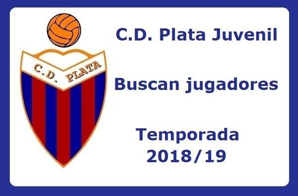 El C.D. Plata precisa jugadores para su equipo Juvenil - Temporada 2018/19