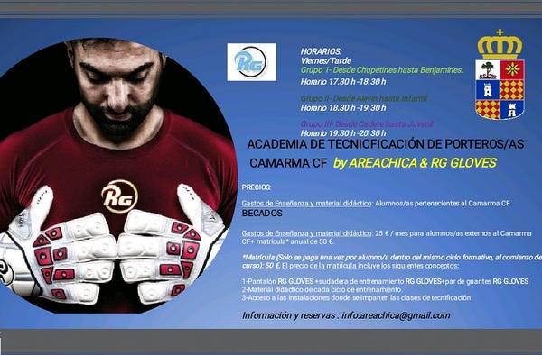 El Camarma CF pone en marcha su Academia de Tecnificación de Porteros/as para fútbol base