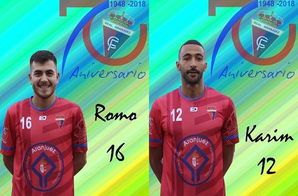 Romo y Karim, causan baja en el Real Aranjuez en esta temporada 2018/19