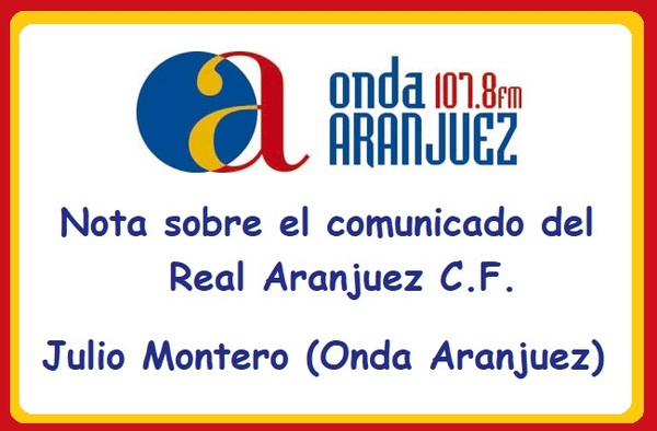 """Contestación desde """"Aranjuez Deportes"""" al comunicado oficial del Real Aranjuez sobre la baja de Trujillo"""