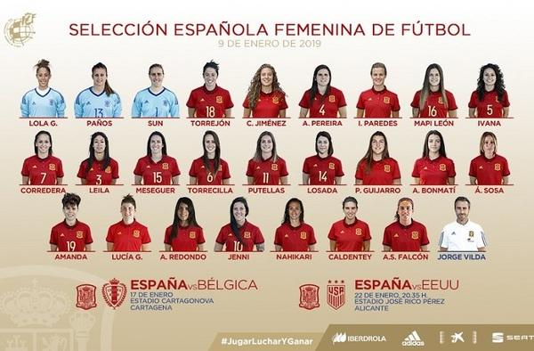 ¡¡ La Selección Española Femenina prepara con 2 amistosos el Mundial de junio en Francia !!