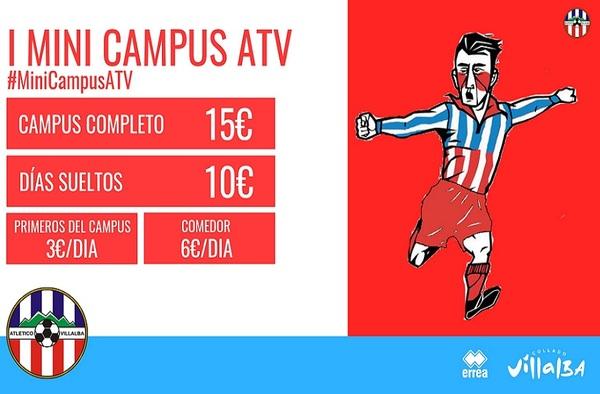 El Club Atlético Villalba organiza el I Mini Campus para niños y niñas el 1 y 4 de marzo de 2019