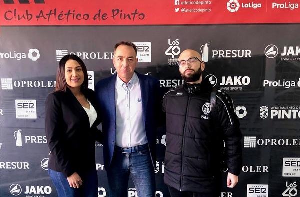 El Atlético de Pinto presenta su nuevo equipo de prensa