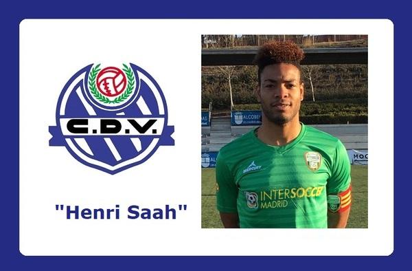 Henri Saah, firma por el C.D. Vicálvaro de Tercera División