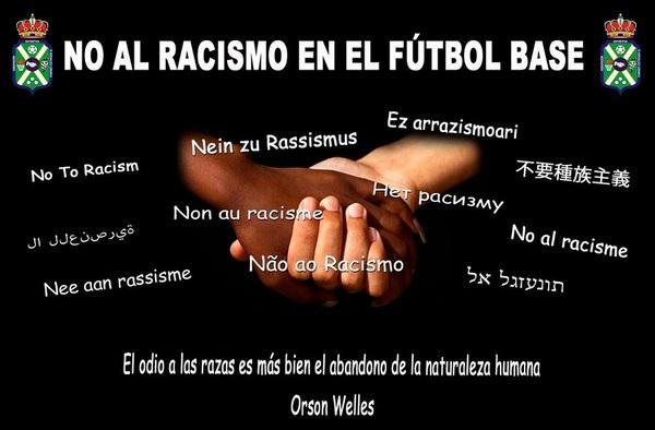 La A.D. Nuevo Versalles Loranca inicia una Campaña en Contra del Racismo en el Fútbol Base