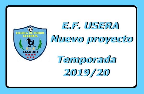E.F. Usera, nuevo proyecto 2019/20, ¡ inscribiros !