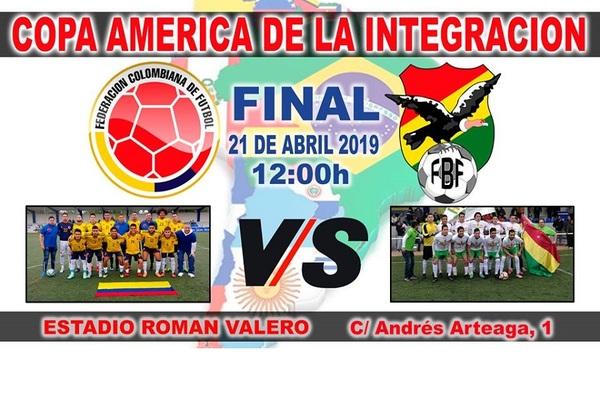 """Colombia y Bolivia juegan la final de la 2ª Copa América de la Integración en el """"Román Valero"""""""